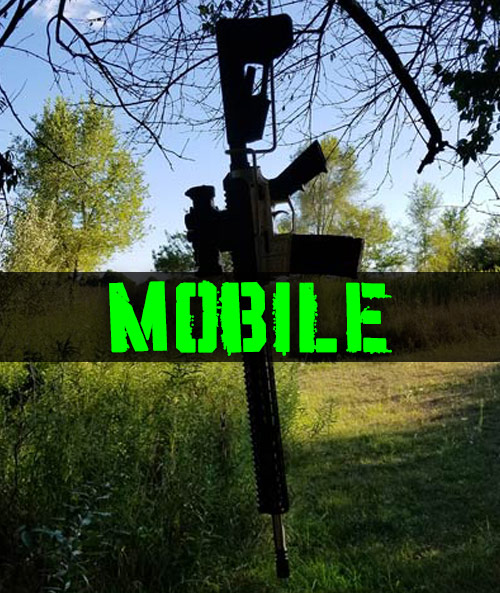 mobile rifle hanger